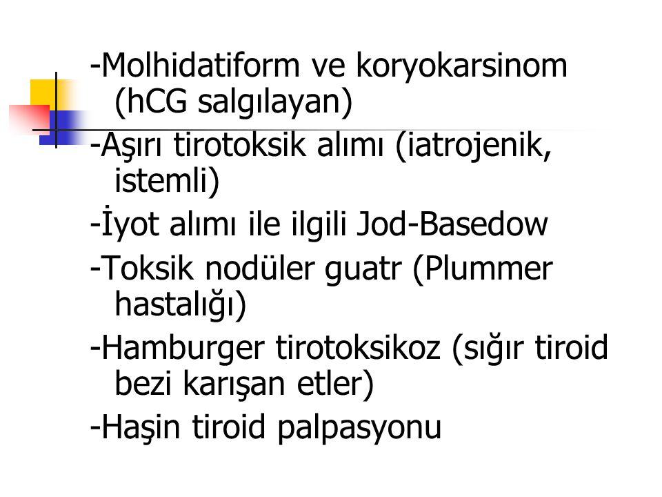 -Molhidatiform ve koryokarsinom (hCG salgılayan)