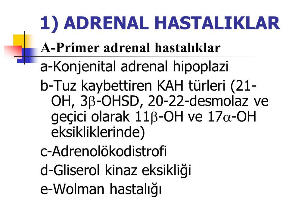 1) ADRENAL HASTALIKLAR A-Primer adrenal hastalıklar