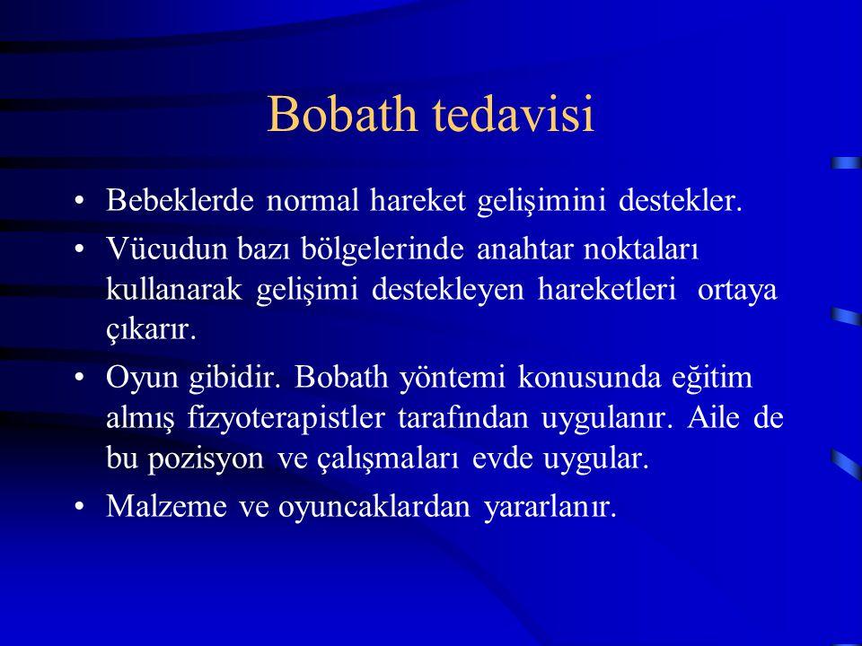 Bobath tedavisi Bebeklerde normal hareket gelişimini destekler.