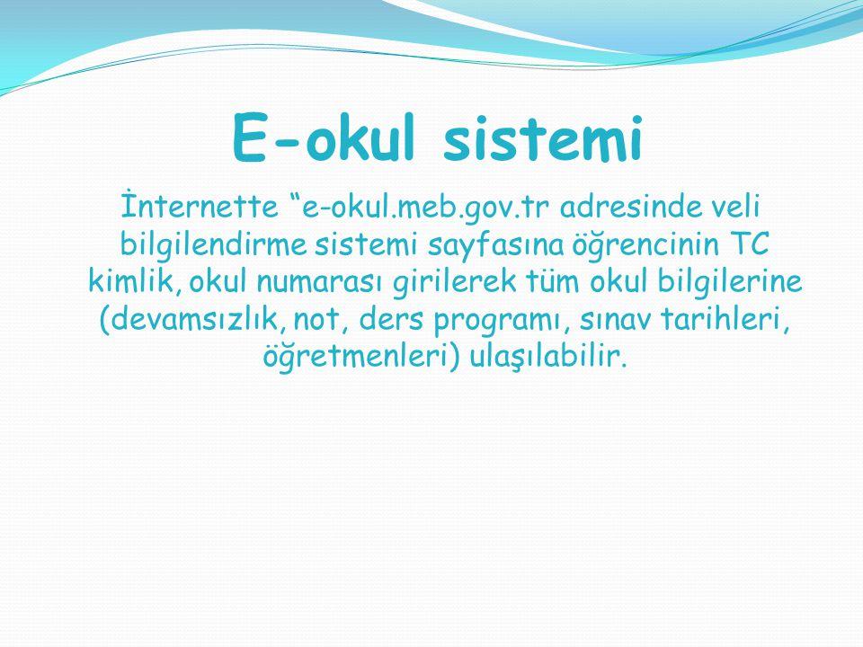 E-okul sistemi
