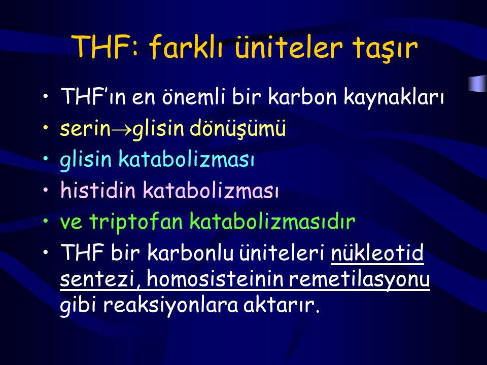 THF: farklı üniteler taşır