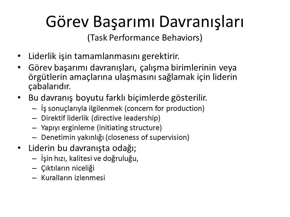 Görev Başarımı Davranışları (Task Performance Behaviors)
