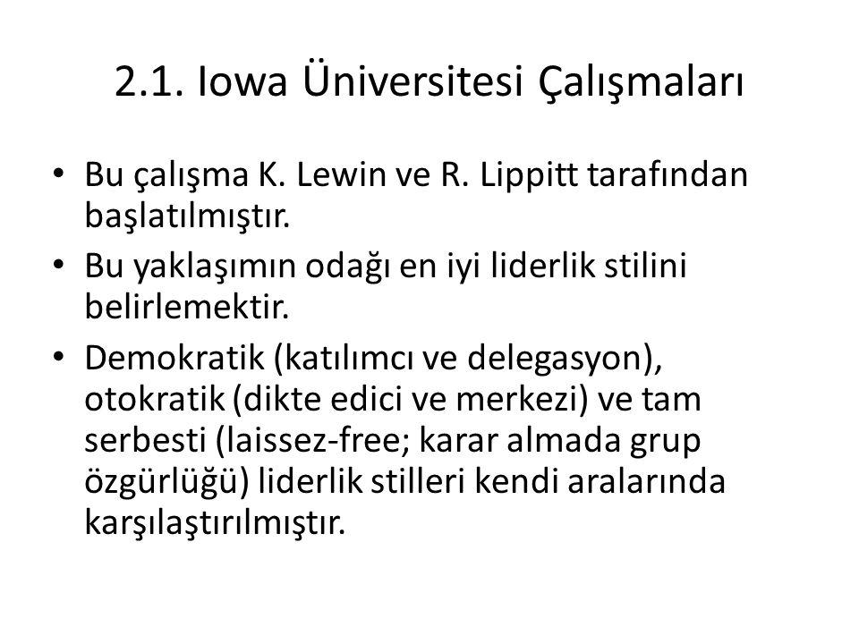 2.1. Iowa Üniversitesi Çalışmaları