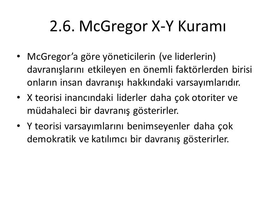 2.6. McGregor X-Y Kuramı