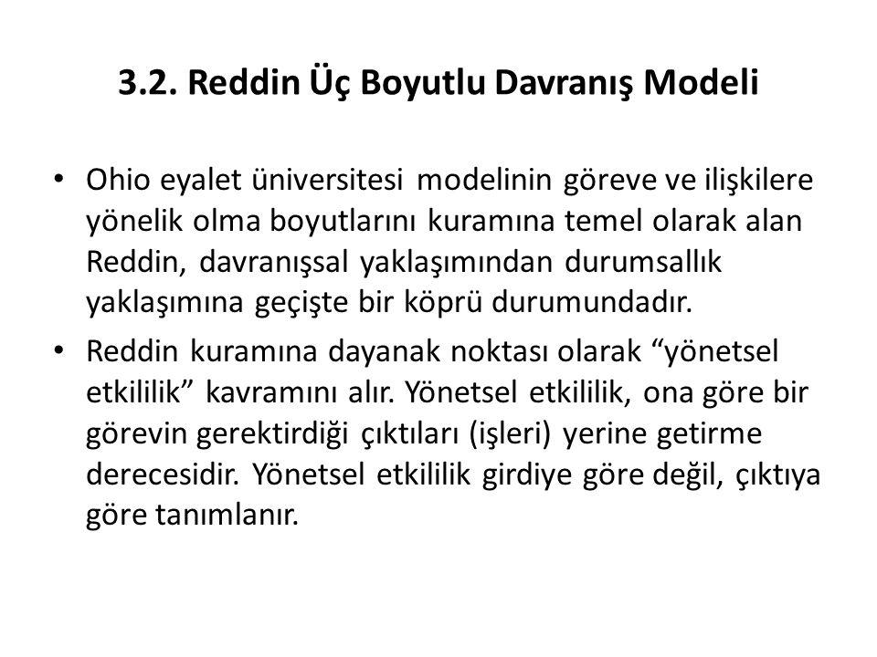 3.2. Reddin Üç Boyutlu Davranış Modeli