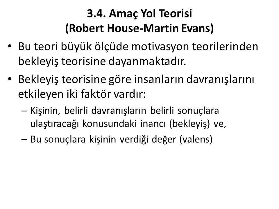 3.4. Amaç Yol Teorisi (Robert House-Martin Evans)