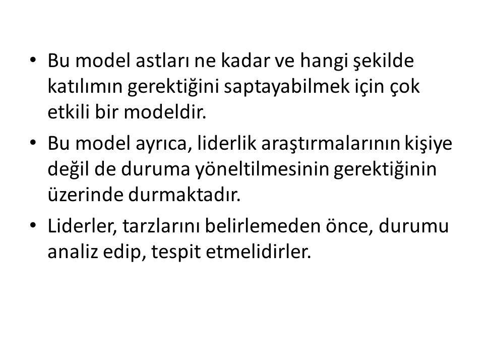 Bu model astları ne kadar ve hangi şekilde katılımın gerektiğini saptayabilmek için çok etkili bir modeldir.