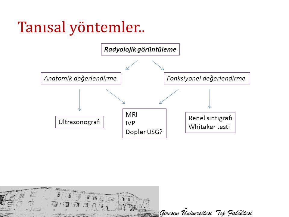 Tanısal yöntemler.. Giresun Üniversitesi Tıp Fakültesi