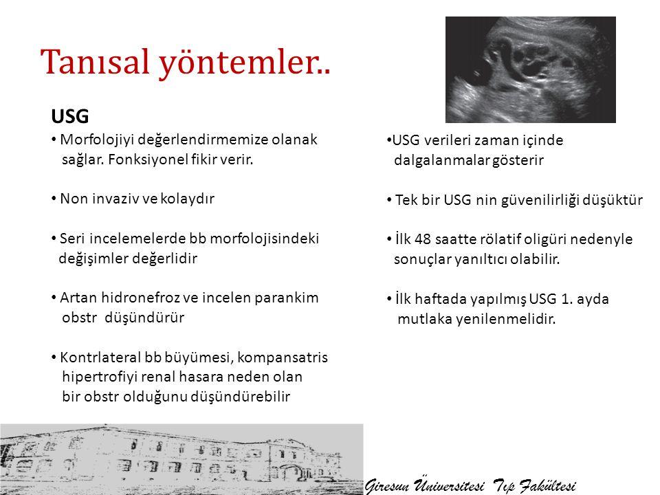 Tanısal yöntemler.. USG Giresun Üniversitesi Tıp Fakültesi