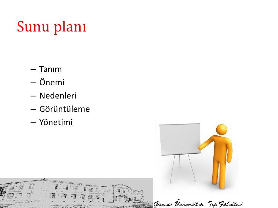 Sunu planı Tanım Önemi Nedenleri Görüntüleme Yönetimi
