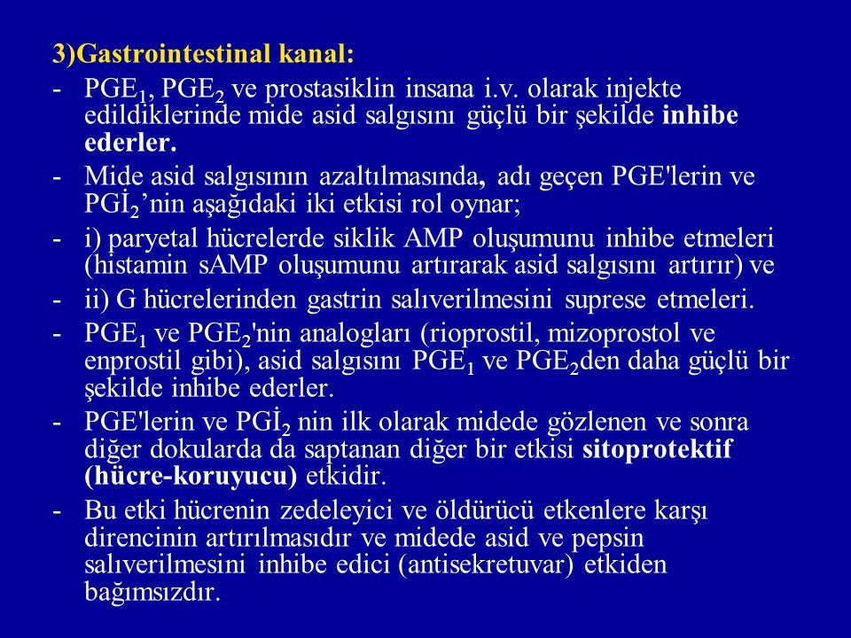 3)Gastrointestinal kanal:
