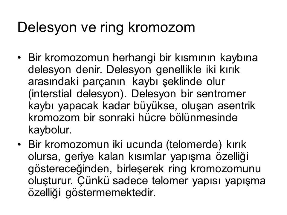 Delesyon ve ring kromozom