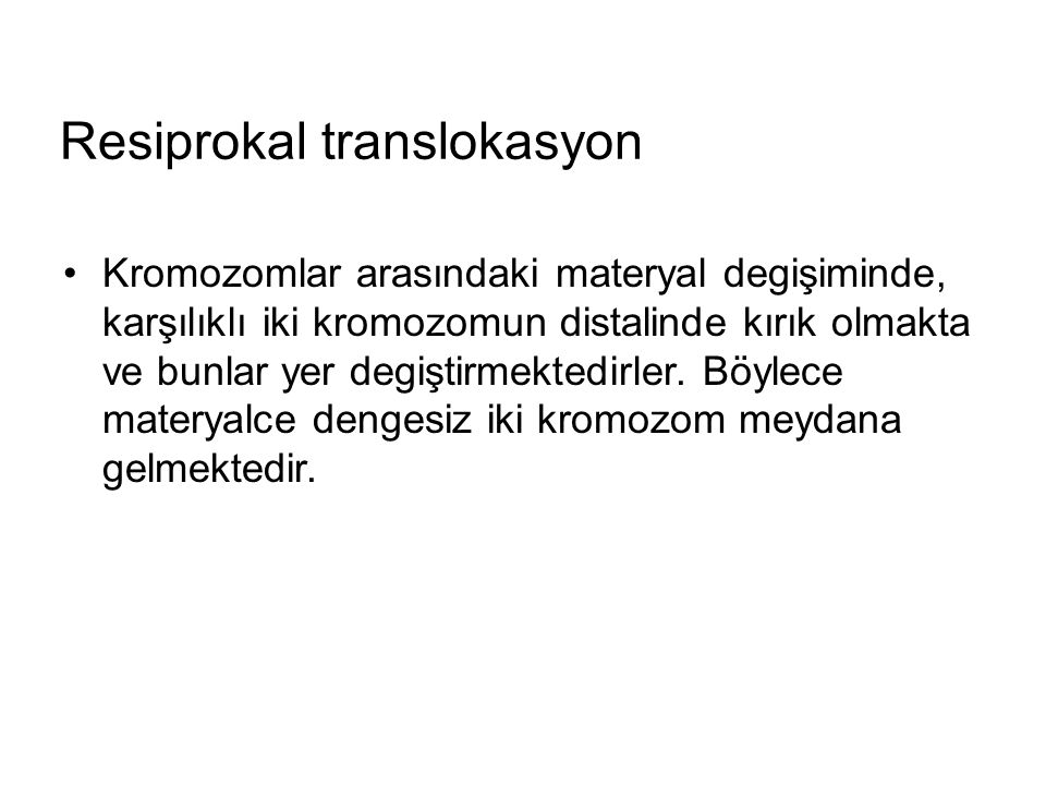 Resiprokal translokasyon