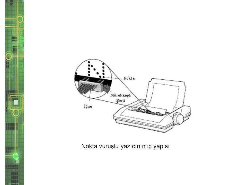 Nokta vuruşlu yazıcının iç yapısı