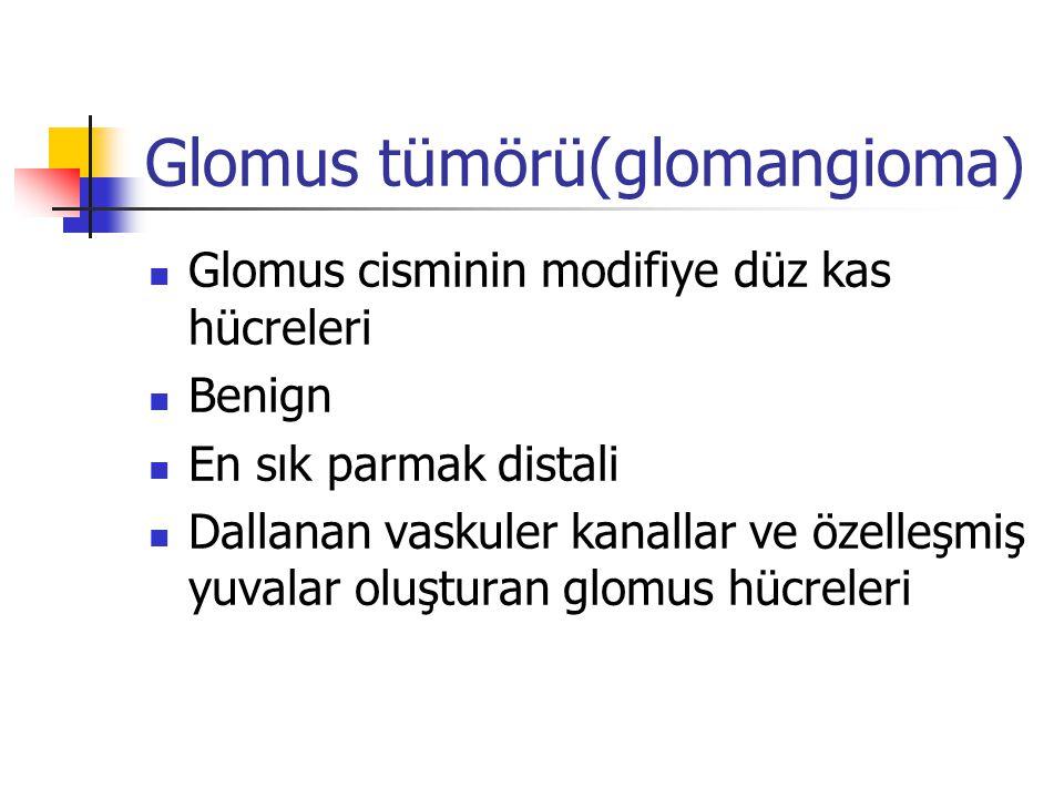 Glomus tümörü(glomangioma)