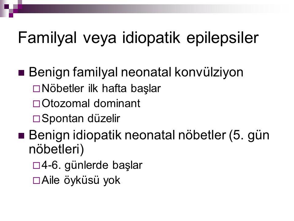 Familyal veya idiopatik epilepsiler