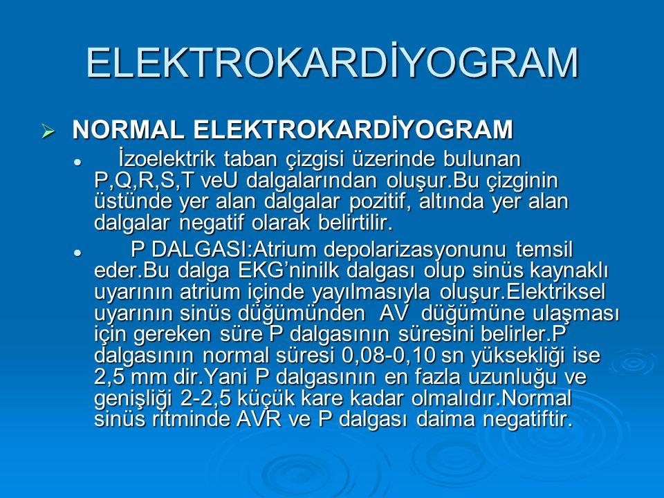 ELEKTROKARDİYOGRAM NORMAL ELEKTROKARDİYOGRAM