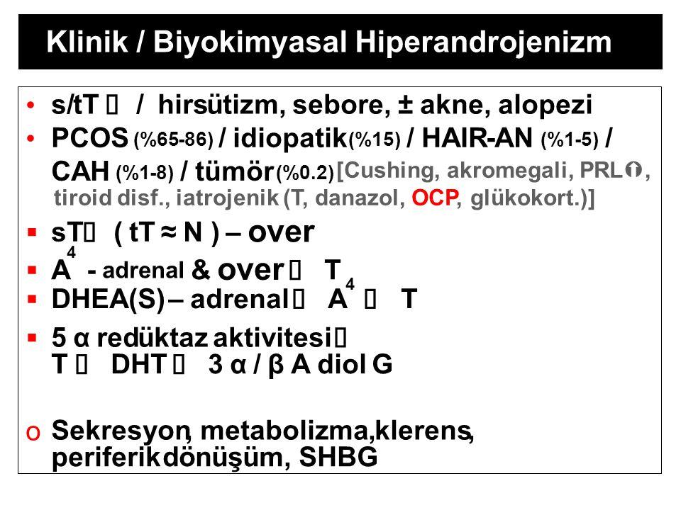 over over Klinik / Biyokimyasal Hiperandrojenizm • s/ tT Ý / hirs ü