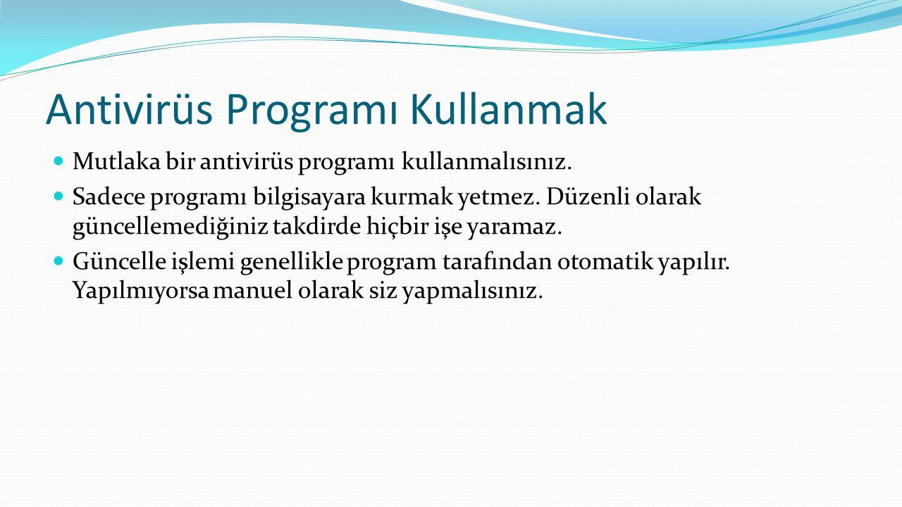 Antivirüs Programı Kullanmak