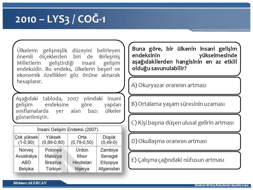 2010 – LYS3 / COĞ-1