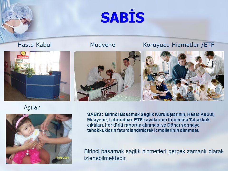 SABİS Hasta Kabul Muayene Koruyucu Hizmetler /ETF Aşılar