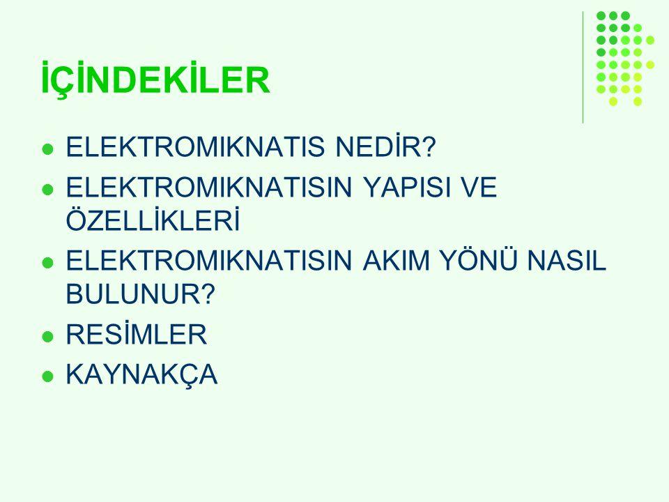 İÇİNDEKİLER ELEKTROMIKNATIS NEDİR