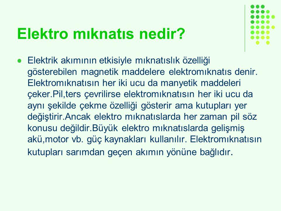 Elektro mıknatıs nedir