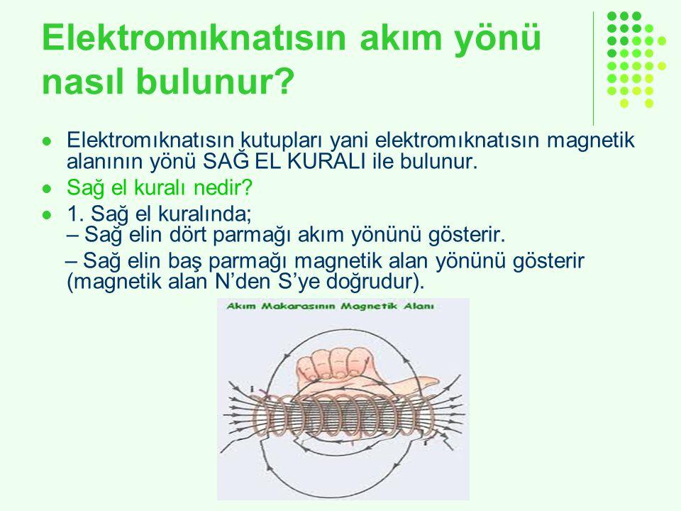 Elektromıknatısın akım yönü nasıl bulunur