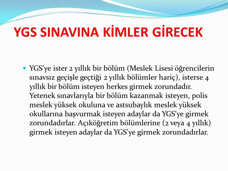 YGS SINAVINA KİMLER GİRECEK