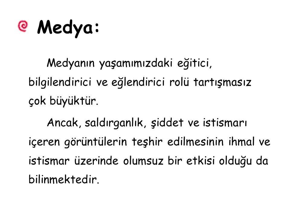 Medya: Medyanın yaşamımızdaki eğitici, bilgilendirici ve eğlendirici rolü tartışmasız çok büyüktür.