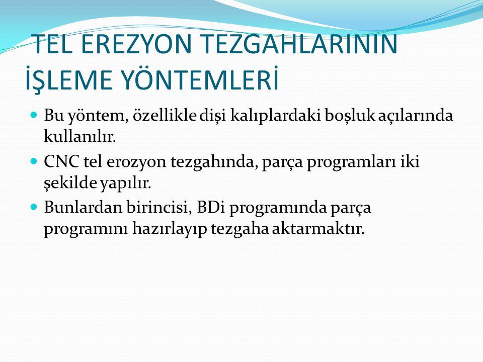 TEL EREZYON TEZGAHLARININ İŞLEME YÖNTEMLERİ