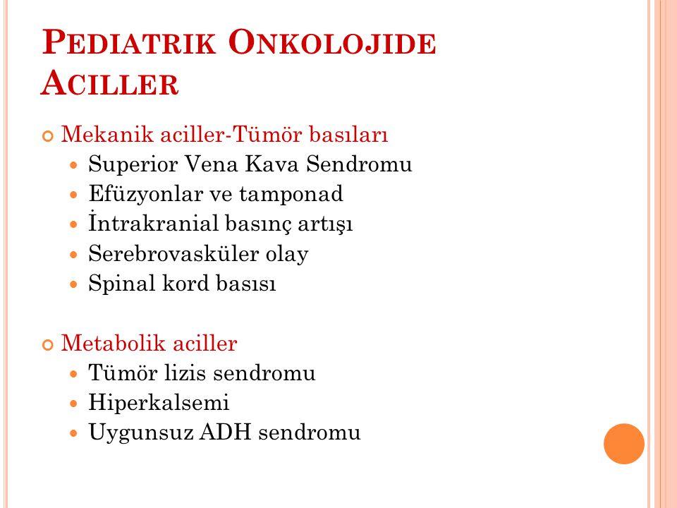 Pediatrik Onkolojide Aciller
