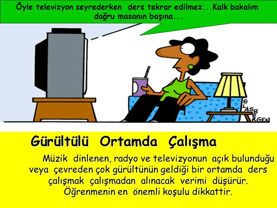 Öyle televizyon seyrederken ders tekrar edilmez...Kalk bakalım