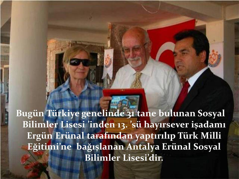Bugün Türkiye genelinde 31 tane bulunan Sosyal Bilimler Lisesi 'inden 13.
