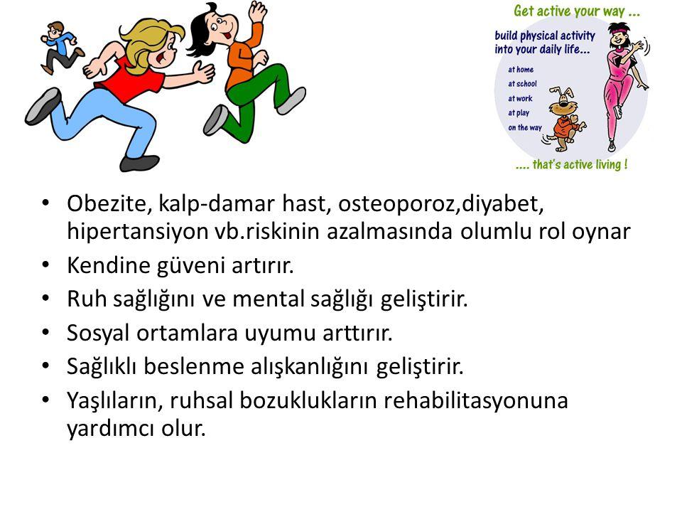 Obezite, kalp-damar hast, osteoporoz,diyabet, hipertansiyon vb
