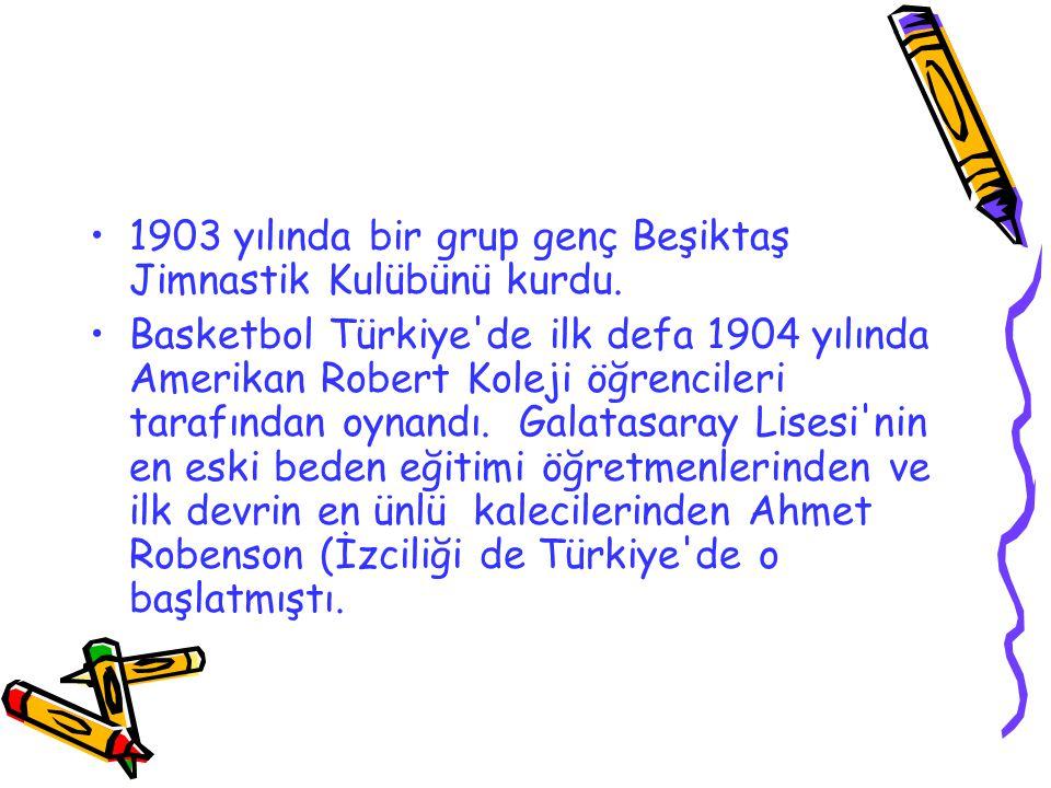 1903 yılında bir grup genç Beşiktaş Jimnastik Kulübünü kurdu.