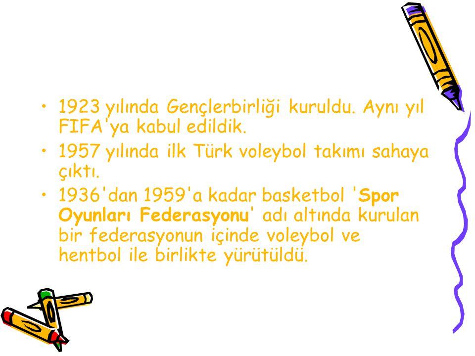 1923 yılında Gençlerbirliği kuruldu. Aynı yıl FIFA ya kabul edildik.