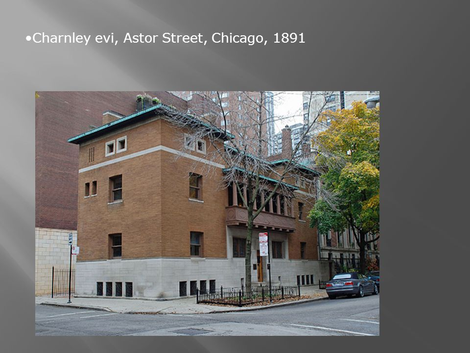 Charnley evi, Astor Street, Chicago, 1891