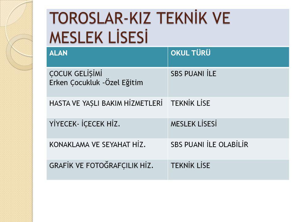 TOROSLAR-KIZ TEKNİK VE MESLEK LİSESİ