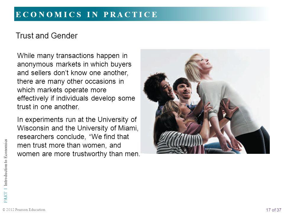 E C O N O M I C S I N P R A C T I C E Trust and Gender