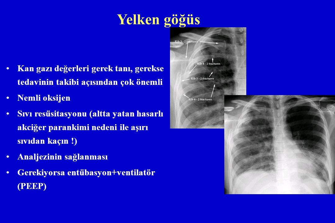 Yelken göğüs Kan gazı değerleri gerek tanı, gerekse tedavinin takibi açısından çok önemli. Nemli oksijen.