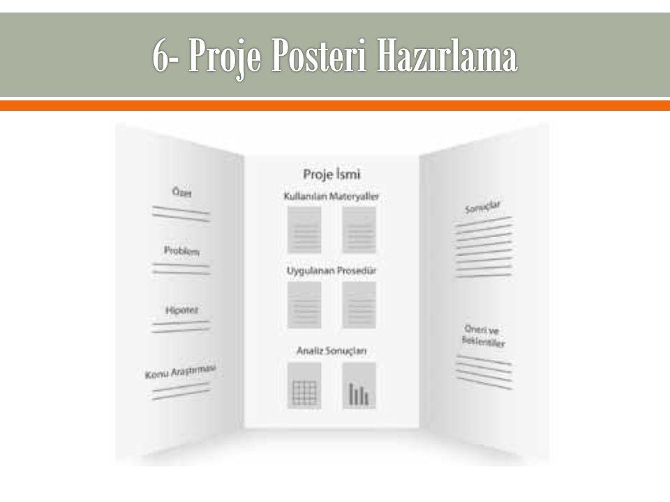 6- Proje Posteri Hazırlama