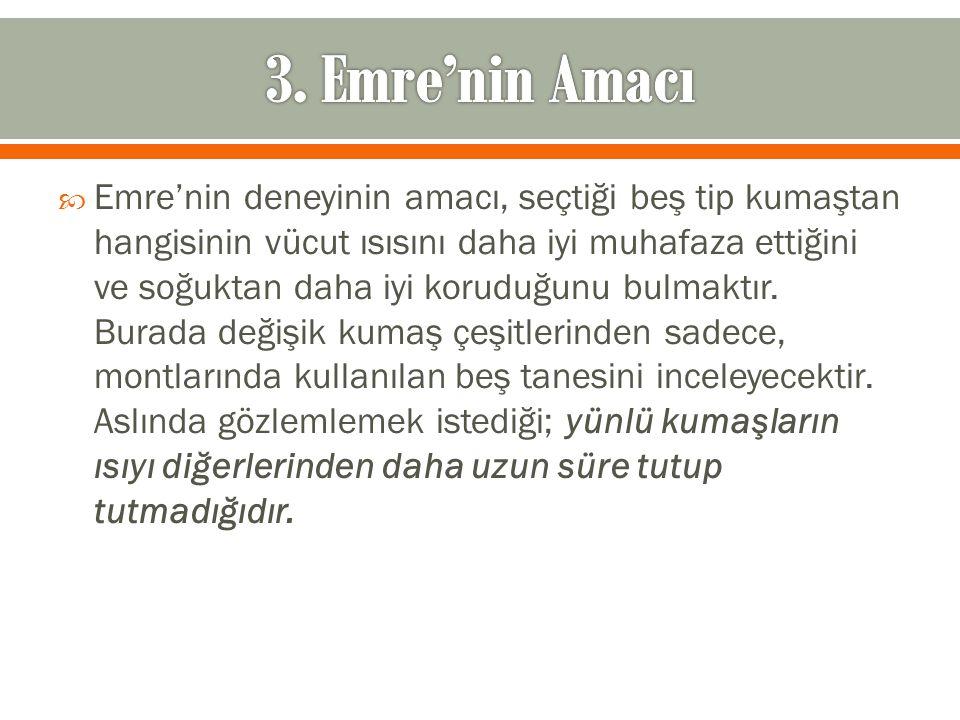 3. Emre'nin Amacı