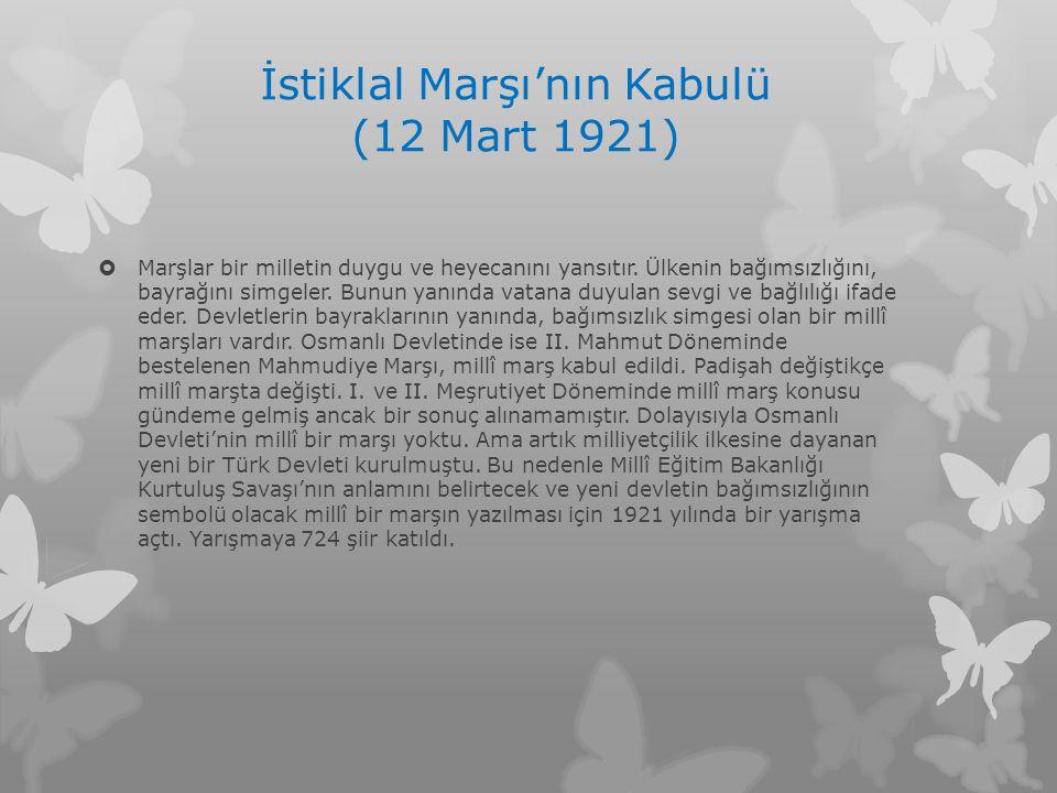 İstiklal Marşı'nın Kabulü (12 Mart 1921)