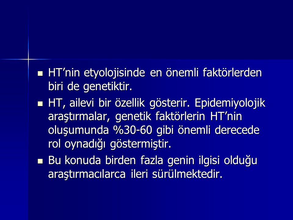 HT'nin etyolojisinde en önemli faktörlerden biri de genetiktir.