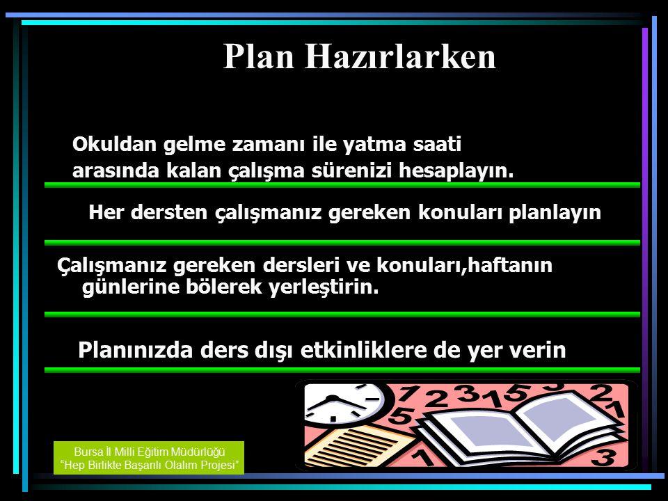Plan Hazırlarken Planınızda ders dışı etkinliklere de yer verin