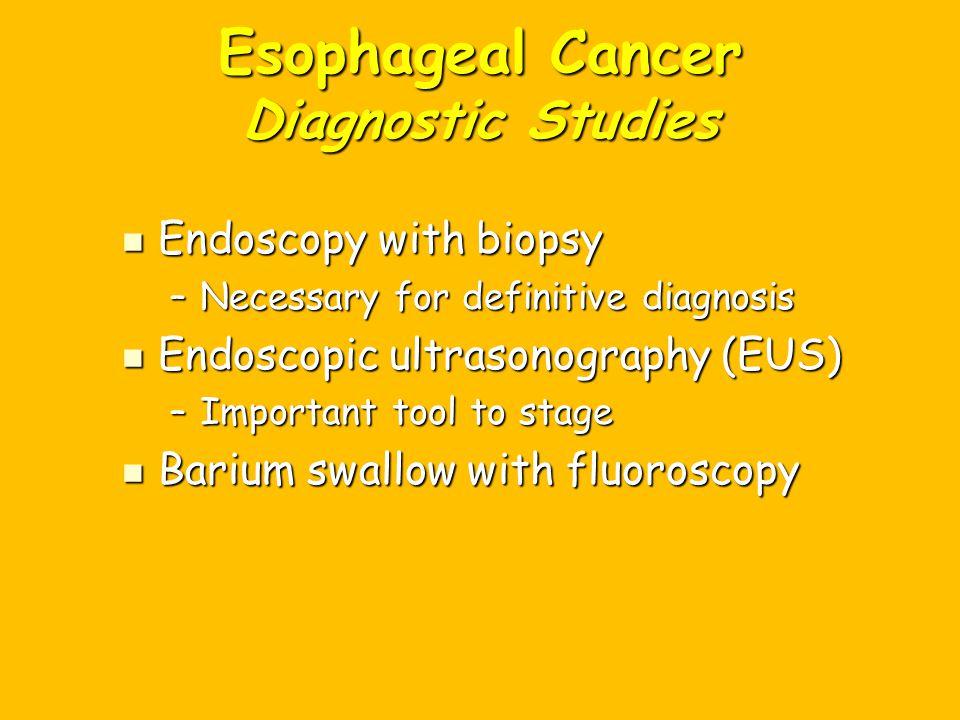 Esophageal Cancer Diagnostic Studies