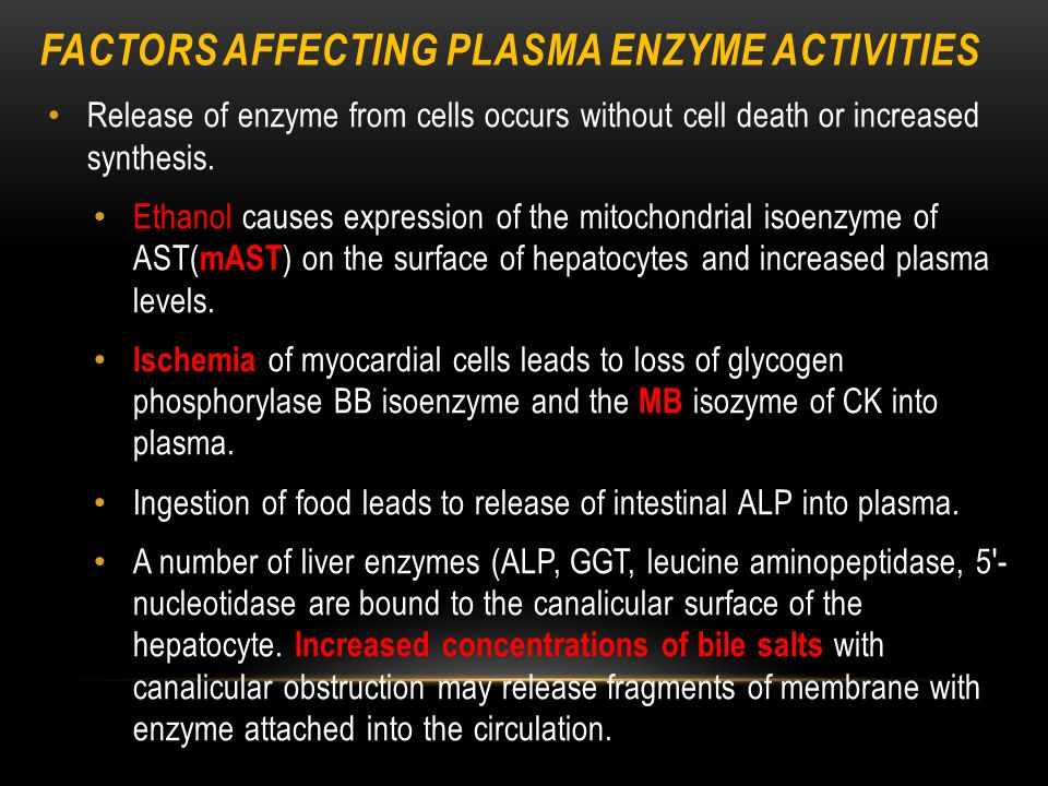 Factors Affecting Plasma Enzyme Activities