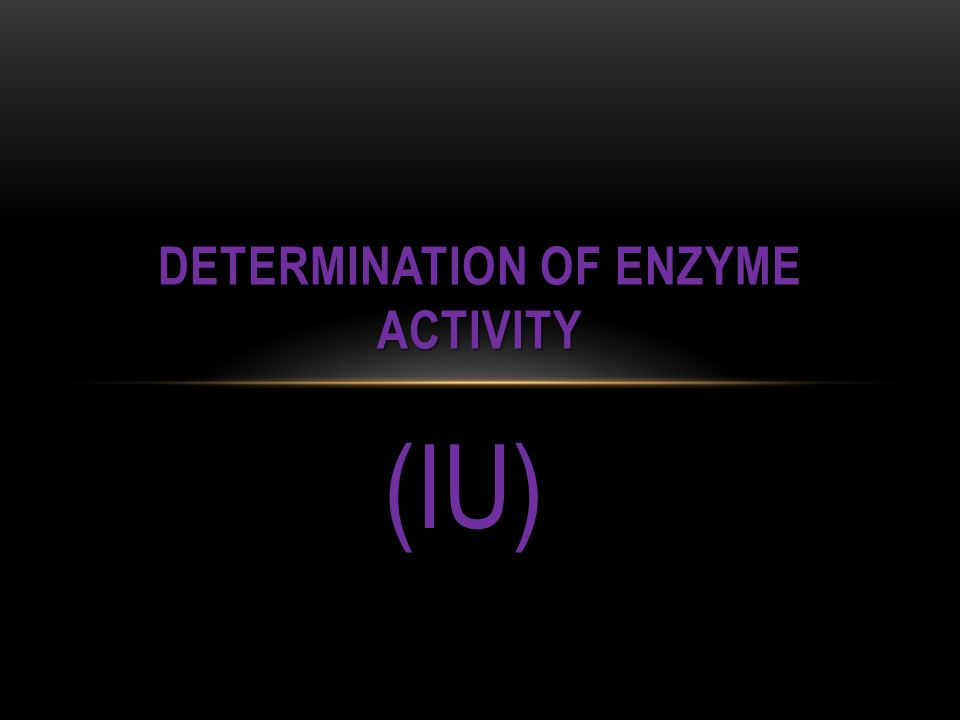 Determination of enzyme activity