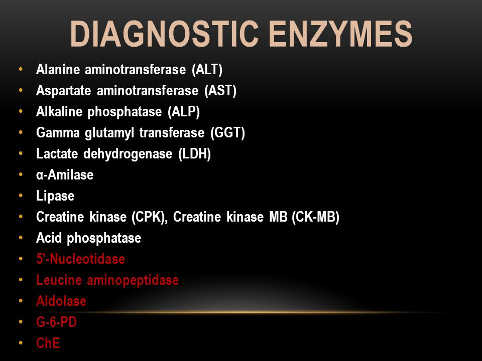 Diagnostic enzymes Alanine aminotransferase (ALT)